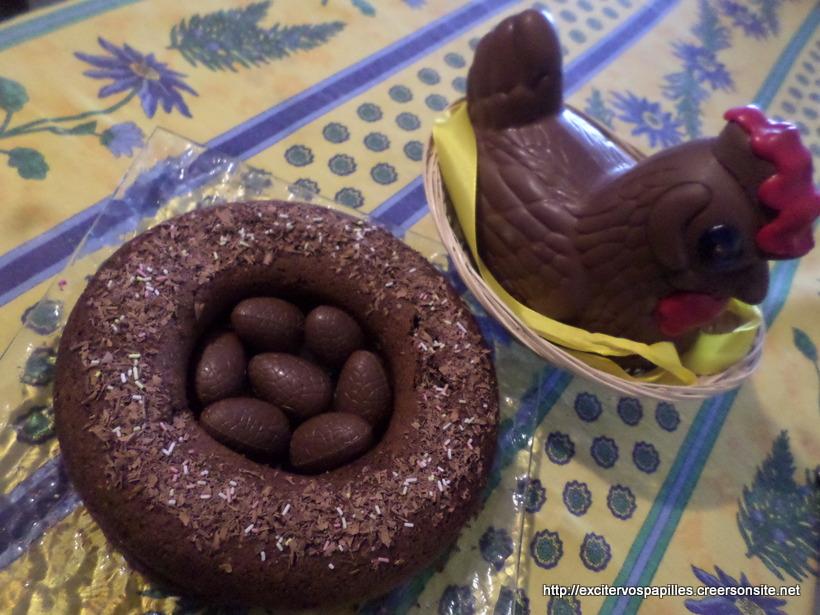 GATEAU DE PAQUES TOUT CHOCOLAT